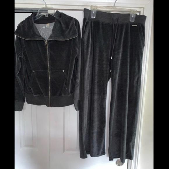 Michael Kors 2 Piece Gray Sweatsuit, Size Large